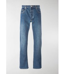 a.p.c. faded slim bootcut jeans