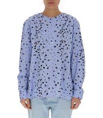 blouse met cheetah-print