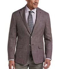 joseph abboud limited edition merlot plaid slim fit sport coat