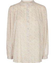 katoenen blouse met bloemenprint cloe  naturel
