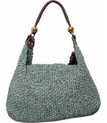 bolsa couro sacola trico - feminino