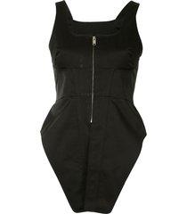 ambush structured corset top - black