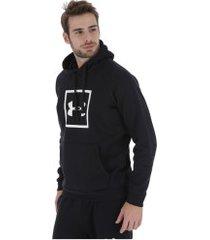 blusão de moletom com capuz under armour hoodie - masculino - preto