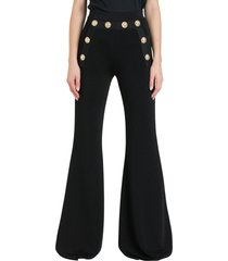 balmain flared trousers in knit