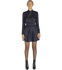 lavallière dress with camou print