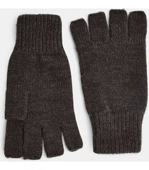 mens grey charcoal gray fingerless gloves