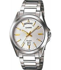 reloj casio kcasmtp-1370d-7a2-gris