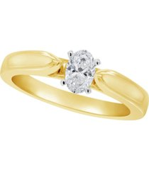 certified oval diamond solitaire engagement ring (1/2 c.t. t.w.) in 14k white gold, rose gold, or yellow gold