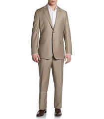 classic-fit wool & silk sharkskin suit
