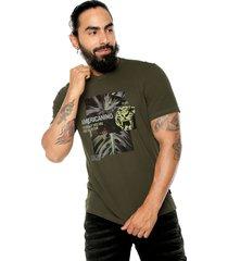 camiseta verde oliva  americanino