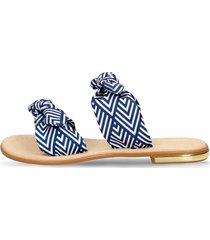 sandalias azul bata ximena planta mujer