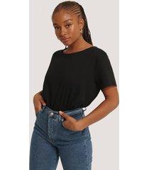 na-kd basic basic oversize t-shirt - black