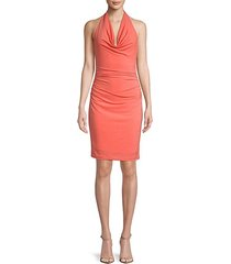 ruched halterneck dress