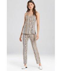 shiloh- the siesta pajamas set, women's, beige, size l, josie
