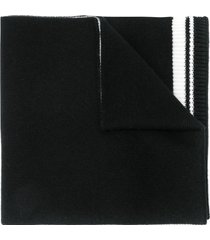dolce & gabbana crown knit scarf - black