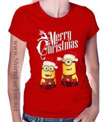christmas minions - womens t shirt
