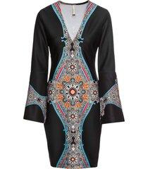 abito con maniche a campana (nero) - bodyflirt boutique