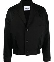 ambush inside out panelled jacket - black