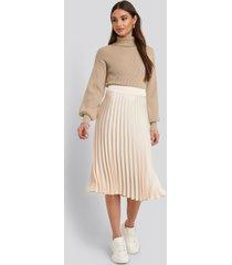 rut&circle veckad kjol - beige