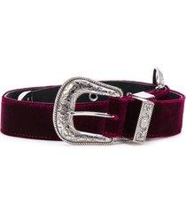 b-low the belt cinto de camurça - vermelho