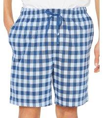 nautica men's cotton buffalo plaid pajama shorts