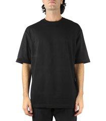 bottega veneta black cotton oversized t-shirt