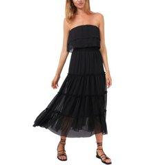 1.state women's strapless ruffle tiered dress