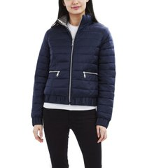 tahari reversible lightweight puffer coat