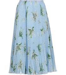 red valentino pleated full skirt with may lily print
