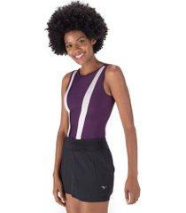body fitness oxer vintage - feminino - roxo esc/rosa cla