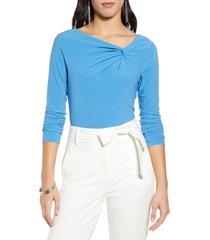 women's halogen twist neck fashion knit top