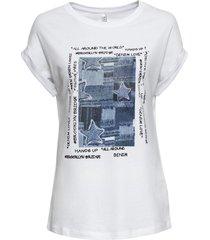 maglia stampata (bianco) - rainbow