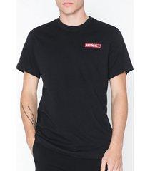 nike sportswear m nsw ss tee jdi 2 t-shirts & linnen black