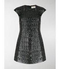saint laurent sequinned short dress