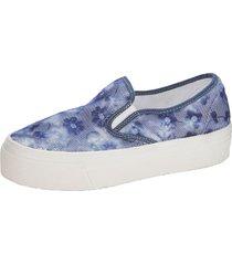 skor wenz blå