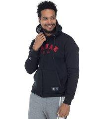 jaqueta de moletom com capuz fatal 21564 - masculina - preto