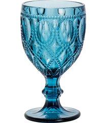 cj 6 taças de vidro p/água bright azul 290ml