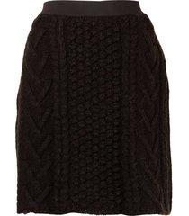 bottega veneta chunky-knit high-waist skirt - brown