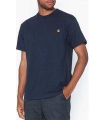 carhartt wip s/s american script t-shirt t-shirts & linnen blue