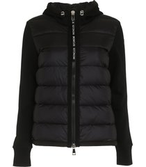 moncler padded panel hoodie
