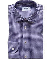 contemporary-fit gingham dress shirt