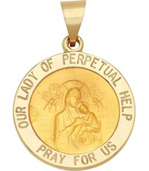 """our lady of perpetual help"" medal pendant in 14k yellow gold"