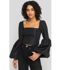 trendyol balloon sleeve blouse - black