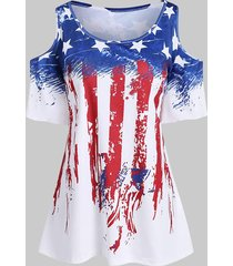 plus size american flag flare sleeve t shirt