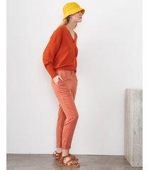 pantalón naranja desiderata saint tropez