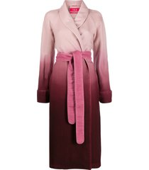 f.r.s for restless sleepers ombré robe coat - pink