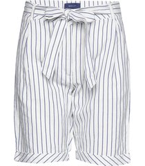 o2. striped linen shorts shorts paper bag shorts vit gant