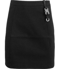 1017 alyx 9sm black mini wrap skirt