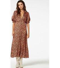 freebird leaf-se-01 maxi dress short sleeve kaaja orange