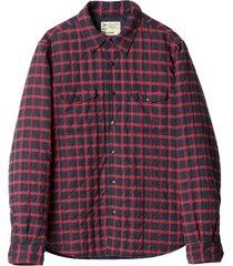 plaid padded shirt